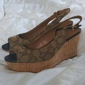 Coach|Authentic NEW Ferry Wedged Sandals